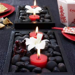 You can decorative items like flowers greenery and candle rings