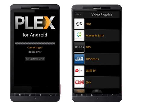 plex android plex media centre app arrives on android