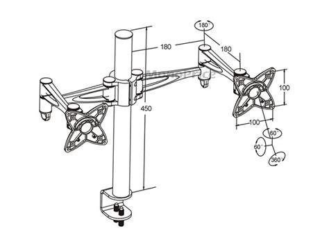 monoprice 3 way adjustable desk mount 3 way adjustable tilting dual desk mount bracket for lcd