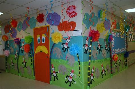classroom dr seuss door hallway decoration classroom
