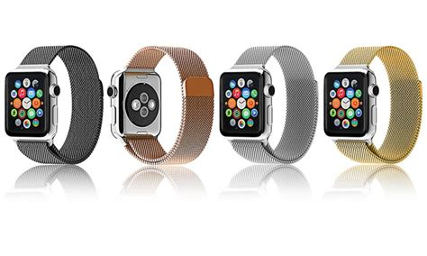 Milanese Watchband Untuk Apple Series 1 2 3 loop band for apple groupon goods
