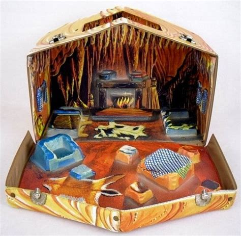 carry dolls house rare vintage troll doll house cave cabin carry case dollhouse