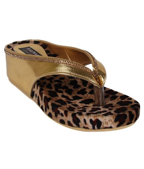 Wedges Gold 1 9space gold wedges heels price in india buy 9space gold