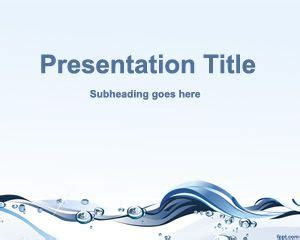 water design for powerpoint free water conservation powerpoint template