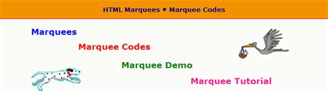 html tutorial marquee effects html codes for web design