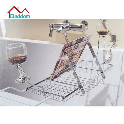 stainless steel bathtub caddy beddom bathtub rack bathroom stainless steel expandable