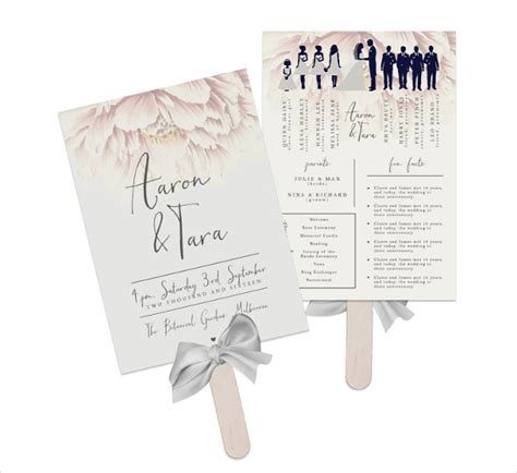 8 wedding fan program templates psd vector eps ai