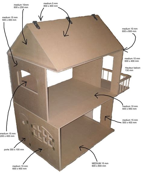 cardboard house plans bricobilly plans for amazing doll houses plus furniture in french doll houses