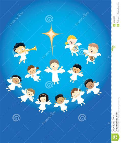 angels praising  birth  jesus stock vector image