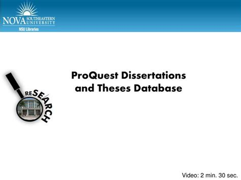 proquest dissertations theses ppt proquest dissertations and theses database