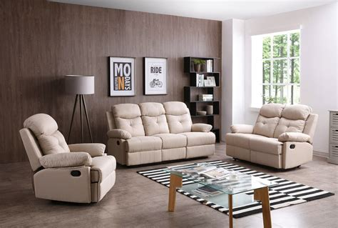 stadium seating couches living room stadium reclining living room set beige by