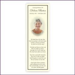 memorial bookmarks from sprinter memorial cards keepsakes