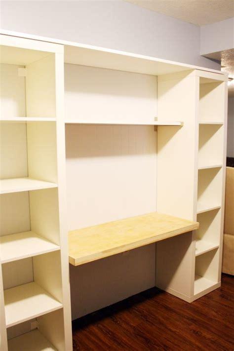 a desk out of bookshelves best 20 bookshelf desk ideas on