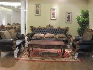 Black Leather Living Room Chair Design Ideas Awesome And Luxury Living Room Furniture Design Ideas With Wonderful Brown Carving Wooden Frame