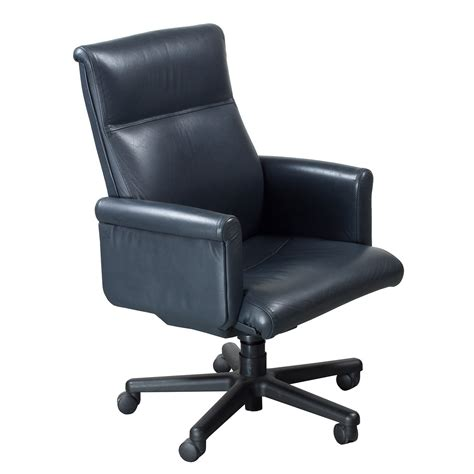 gray leather executive office chair steelcase theorem used midback leather executive chair