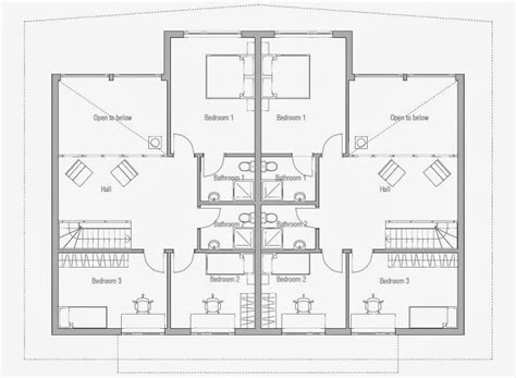 cheap duplex plans affordable home plans economical duplex home plan ch158d