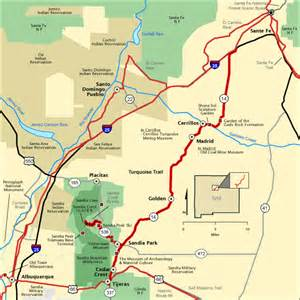 national scenic byway turquoise trail map america s byways