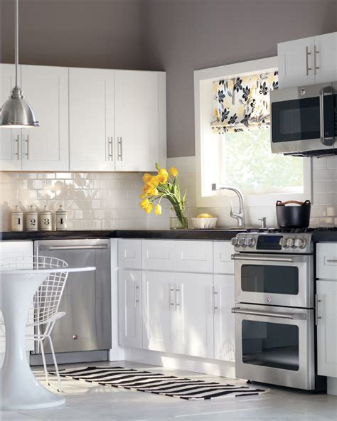 white walls white cabinets white cabinets subway tile gray walls perfection