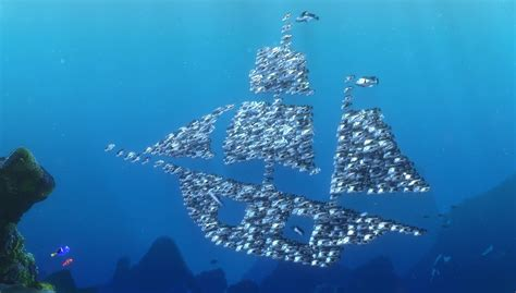The school of moonfish, characters from ?Finding Nemo