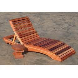 Redwood outdoor penny s single chaise lounge chair wooden lounger
