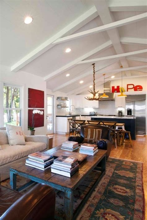 17 Best ideas about Painted Ceiling Beams on Pinterest