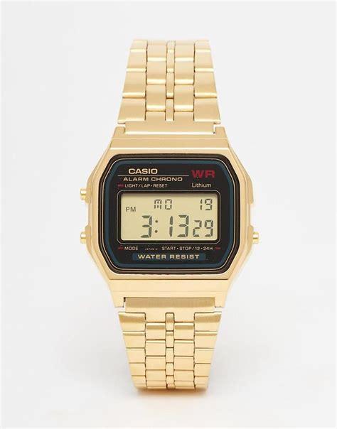 Adidas Digital Hitam Gold casio casio a159wgea 1ef gold digital at asos