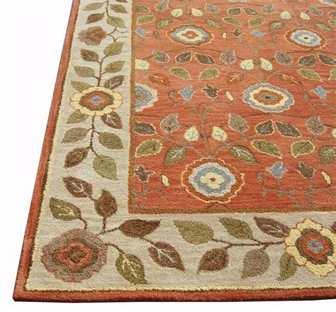 Brand New Pottery Barn Millie Rust Persian Style Handmade Pottery Barn Area Rugs