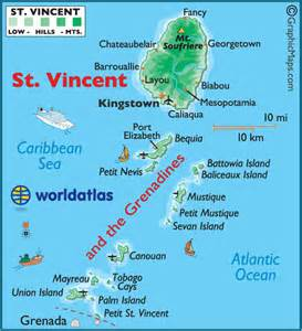 map st vincent and the grenadines st vincent and the grenadines large color map