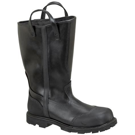 firefighting bunker boots s thorogood 174 14 quot structural firefighting oblique steel