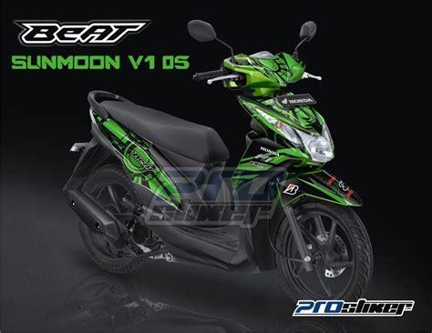 Terbaru Sticker Striping Motor Stiker Honda Beat Fi Ac Mila stiker motor honda beat fi warna hijau modif prostiker