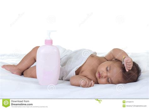 baby sleeping in bed baby sleep on a bed stock image image 21154171