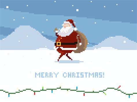 best pixel merry christmas merry and happy holidays from drawsgood by michael b myers jr dribbble dribbble