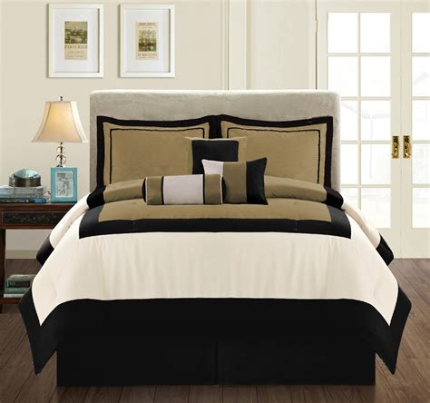 Black And Brown Comforter Minimalist Bedroom With