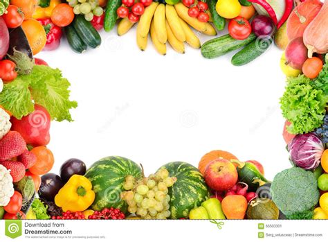 w fruits and vegetables frame of vegetables and fruits stock image image of