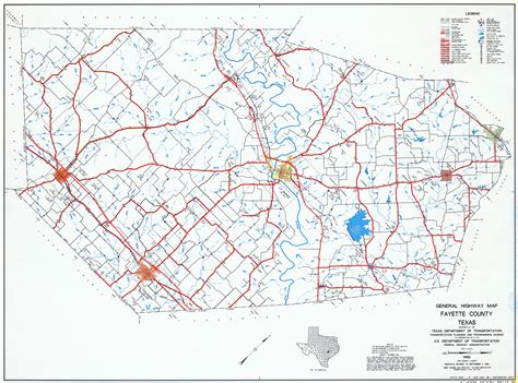 texas county road map fayette county texas maps