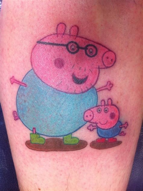 pig tattoo awwww my baby boys favorite show peppa pig