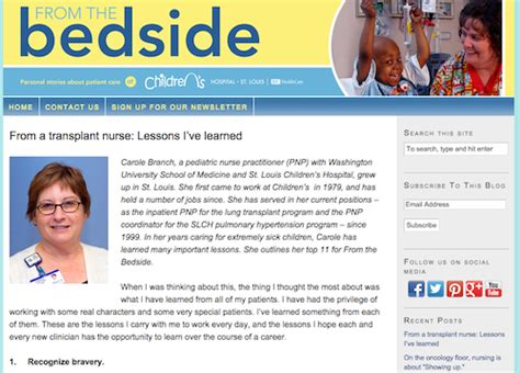 bedside stories a journey built by patients learning to listen books 50 great websites for pediatric nurses