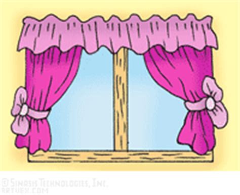Bedroom Curtains Clipart Windows Curtains Clip Royalty Free