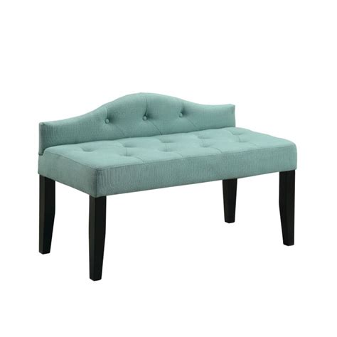 blue bedroom bench furniture of america olivia linen tufted bedroom bench in