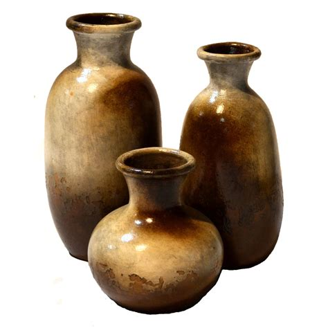 Set Of 3 Vases by Antares Vases Set Of 3