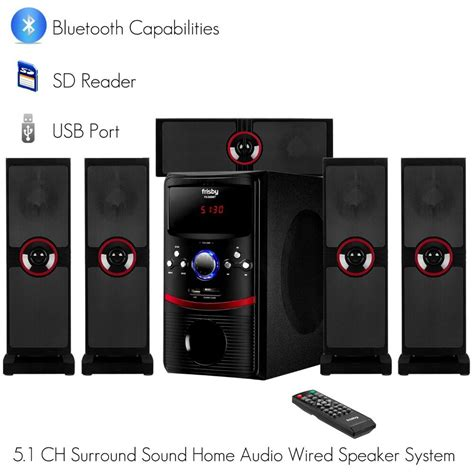 frisby  ch home theater system package  bluetooth sd