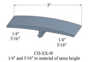 3 inch wide transition molding for 1 4 quot or 5 16 quot floor