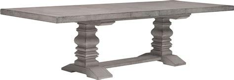 rectangular pedestal dining table prospect hill gray rectangular extendable pedestal dining