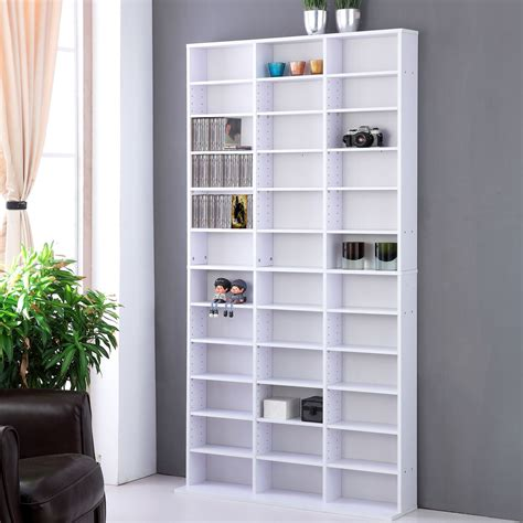 cd dvd storage shelf rack unit adjustable book bluray