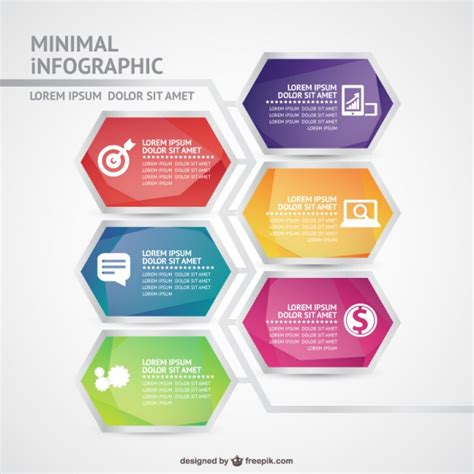 Minimal Infographic Template Vector Free Download Free Infographic Templates