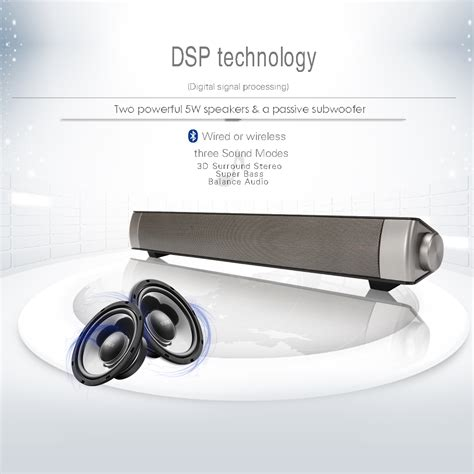 Horn Stereo Wireless Speaker Usb Sound Bar Stereo Wireless Bluetooth Speaker Subwoofer