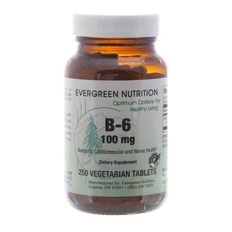Evergreen Liver Detox by B 6 100 Mg Evergreen Nutrition
