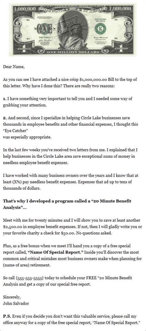 health insurance sales letter amazing prospecting