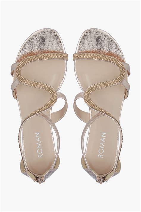 Vnc Studded Flat Sandals diamante studded flat sandals in originals uk