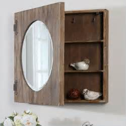 uttermost gualdo aged wood mirror cabinet farmhouse